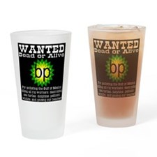 BP Wanted Poster Drinking Glass