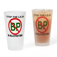 Stop The Leak Drinking Glass