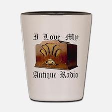 I Love My Antique Radio Shot Glass