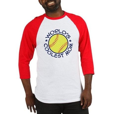World's Coolest Softball Mom Baseball Jersey