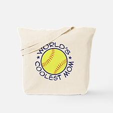 World's Coolest Softball Mom Tote Bag