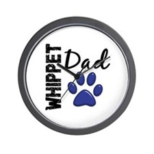 Whippet Dad 2 Wall Clock