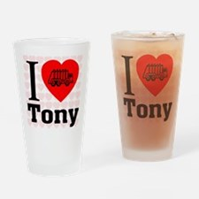 I Love Tony Drinking Glass