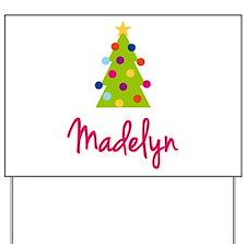 Christmas Tree Madelyn Yard Sign