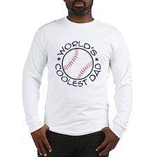 World's Coolest Baseball Dad Long Sleeve T-Shirt