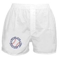 World's Coolest Baseball Dad Boxer Shorts