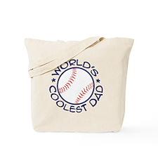 World's Coolest Baseball Dad Tote Bag