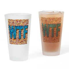 WTF Photo Montage Drinking Glass