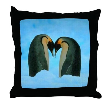 Penguin Love Throw Pillow