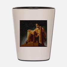 Lincoln Memorial Mosaic Shot Glass