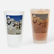 Mount Rushmore Photo Montage Drinking Glass