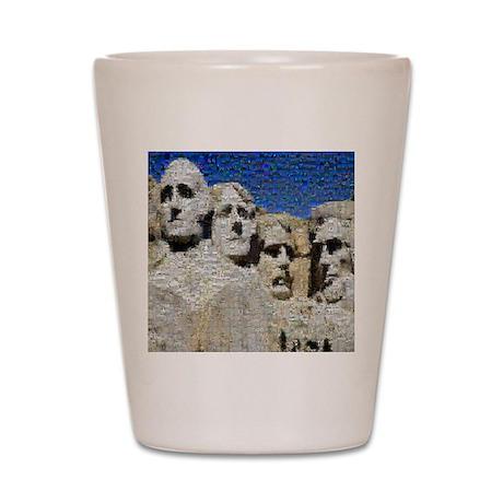 Mount Rushmore Photo Montage Shot Glass