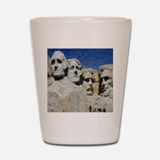 Mount Rushmore Photo Montage Shot Glass