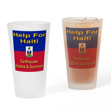 Help For Haiti Drinking Glass