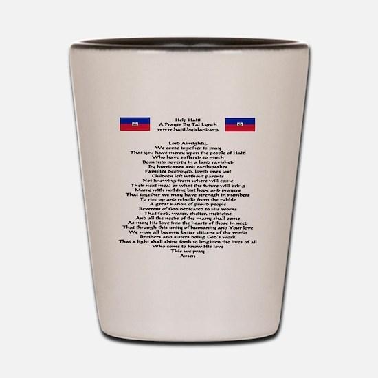Pray For Haiti Shot Glass