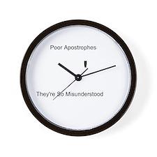 Apostrophe Misunderstood Wall Clock