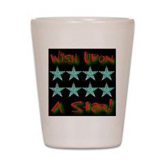 Wish Upon A Star! Red Shot Glass