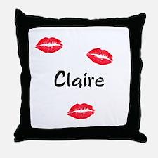 Claire kisses Throw Pillow