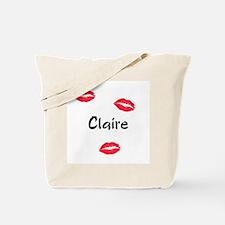 Claire kisses Tote Bag