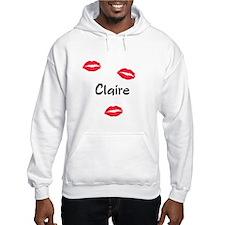 Claire kisses Hoodie