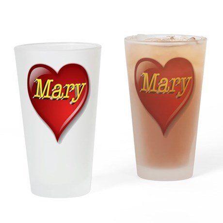 The Great Mary Heart Drinking Glass