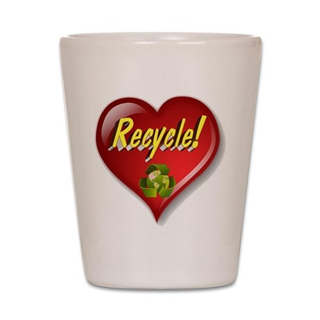 The Great Recycle Heart Shot Glass