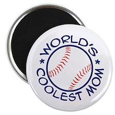 World's Coolest Baseball Mom Magnet