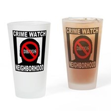 No Drugs Drinking Glass
