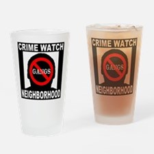 No Gangs Drinking Glass