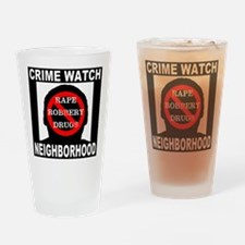 Crime Watch Neighborhood Drinking Glass