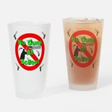No Guns At School Drinking Glass