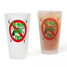 No Guns Inside Park Drinking Glass