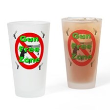 Gun Free Zone Drinking Glass