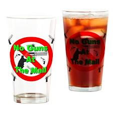 No Guns At The Mall Drinking Glass
