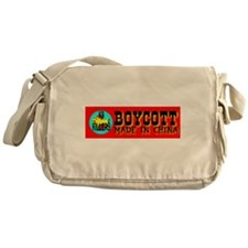 Boycott Made In China K9 Kill Messenger Bag