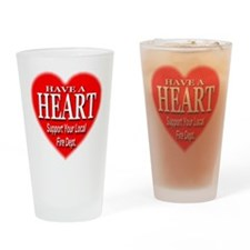 Support Fire Department Drinking Glass