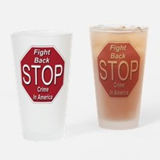 Stop Crime In America Drinking Glass