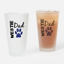 Westie Dad 2 Drinking Glass