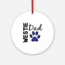 Westie Dad 2 Ornament (Round)