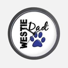 Westie Dad 2 Wall Clock