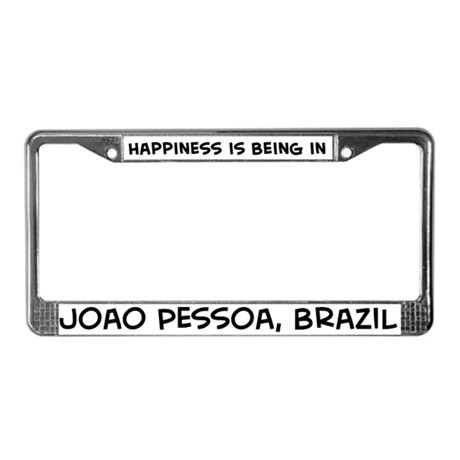 Happiness is Joao Pessoa License Plate Frame