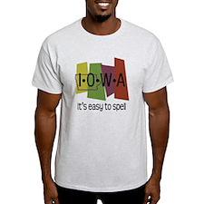 Iowa Easy to Spell T-Shirt