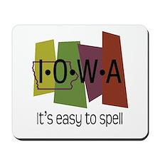 Iowa Easy to Spell Mousepad