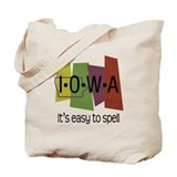 Iowa humor Canvas Bags