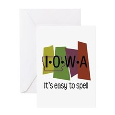 Iowa Easy to Spell Greeting Card