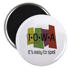 Iowa Easy to Spell Magnet
