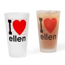 I Love ellen Drinking Glass