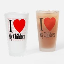 I Love My Children Drinking Glass