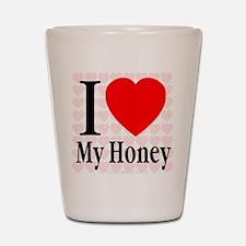 I Love My Honey Shot Glass