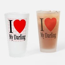 I Love My Darling Drinking Glass